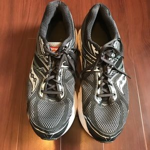 Saucony Shoes - Saucony Omni 4 Black Gray Running Shoes Size 14